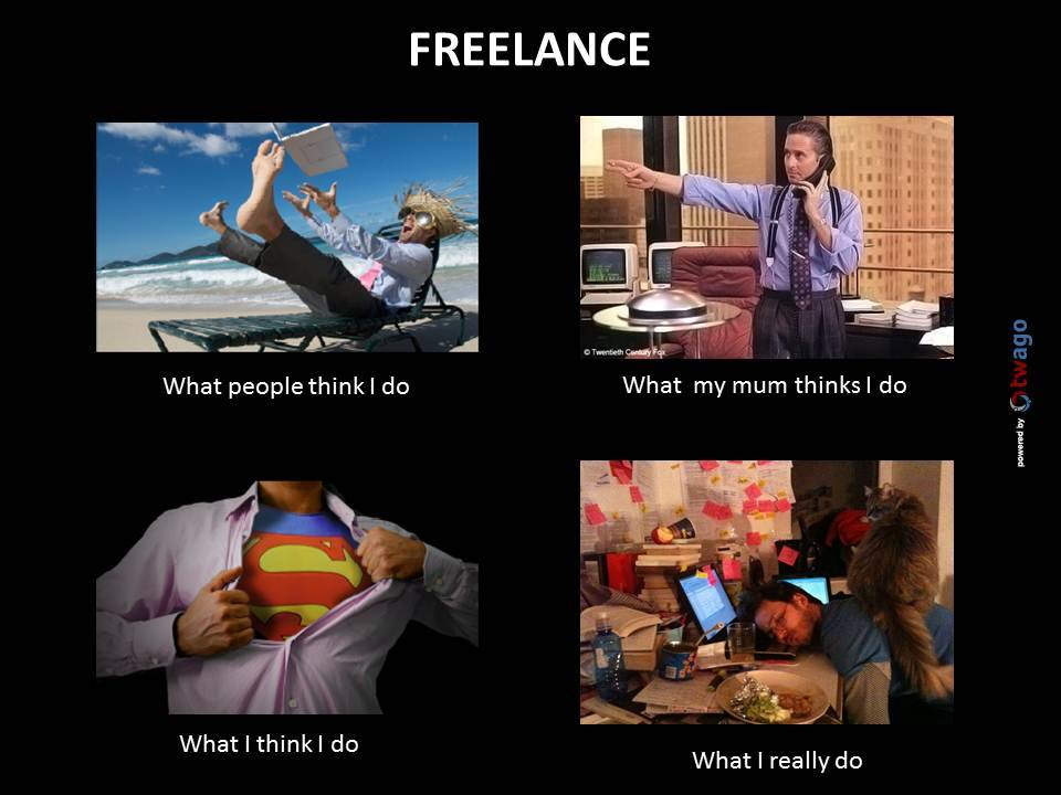 Freelance: What people think I do