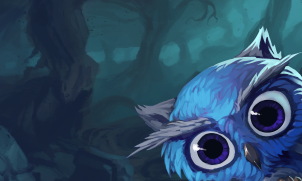 Hooty in 2D - close up