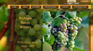 Website for a Bodega/Winery