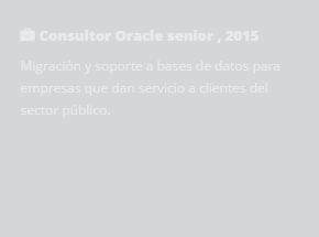 Consultor Oracle senior